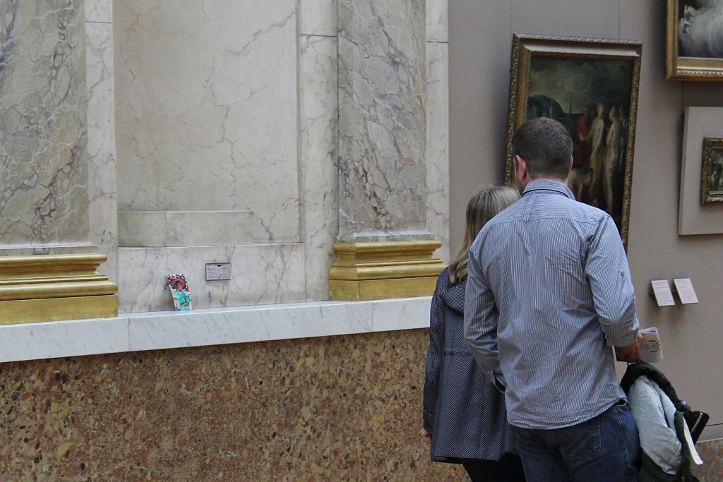 Intervención Museo del Louvre